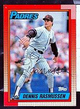 Buy Dennis Rasmussen, LHP, Padres, Topps Trading Card 449