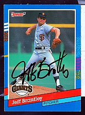 Buy Jeff Brantley, RHP, Giants, Signed Donruss Tradomg Card 376