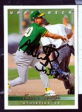 Buy Kevin Seitzer, 3B, Athletics, Uper Deck Trading Card 616