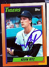 Buy Kevi Ritz, RHP, Tigers, Topps Trading Card 237