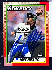 Buy Tony Phillips, 2B, Athletics, Topps Trading Card 702