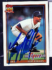 Buy Tony Phillips, 3B-2B, Tigers, Topps Trading Card 583