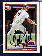 Buy Mark Parent, C, Padres, Topps 40 Trading Card 358
