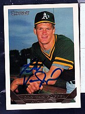 Buy Todd Van Poppel, P, Athletics, Topps Gold Trading Card 673