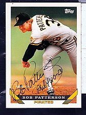 Buy Bob Patterson, LHP, Pirates, Topps Trading Card 299