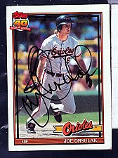 Buy Joe Orsulak, OF, Orioles, Topps 40 Trading Card 521