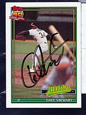 Buy Dave Stewart, RHP, Athletics, Topps 40 Years of Baseball Trading Card 580