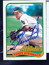 Buy Terry Steinbach, C, Athletics, Topps Trading Card 725