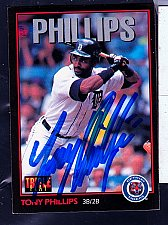 Buy Tony Phillips, 3B/2B, Tigers, Leaf Trading Card 176