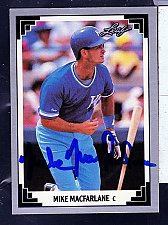 Buy Mike Macfarlane, C, Royals, Leaf Trading Card 30