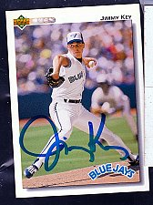 Buy Jimmy Key, LHP, Blue Jays, Uper Deck Trading Card 302