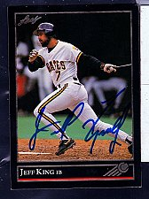 Buy Jeff King, Jr., 1B, Pirates, Leaf Trading Card 420
