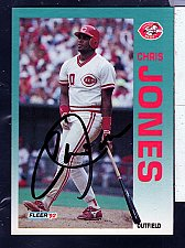 Buy Chris Jones, OF, Reds, Fleer Trading Card 410