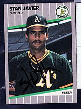 Buy Stan Javier, OF, Athletics, Fleer Trading Card 13