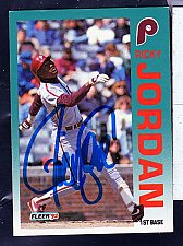Buy Ricky Jordan, 1B, Phillies, Fleer Trading Card 536