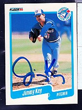 Buy Jimmy Key, LHP, Blue Jays, Fleer Trading Card 85