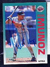 Buy Pedro Munoz, OF, Twins, Fleer Trading Card 212