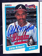 Buy Oddie McDowell, OF, Braves, Fleer Trading Card 589