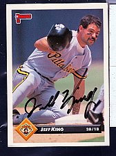 Buy Jeff King, 1/3B, Pirates, Donruss Card 252