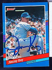 Buy Jimmy Key, LHP, Blue Jays, Donruss Card 98