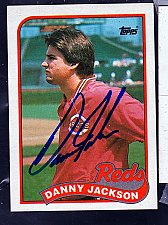 Buy Danny Jackson, LHP, Reds, Topps Trading Card 730