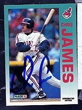 Buy Chris James, DH, Indians, Fleer Trading Card 112