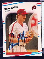Buy Bruce Ruffin, LHP, Phillies, Fleer Trading Card 313