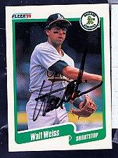 Buy Walt Weiss, SS, Athletics, Fleer Trading Card 22