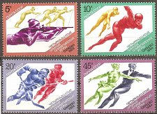 Buy Russia: Sarajevo Winter Olympics MNH Complete 4-value set