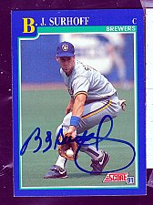Buy B. J. Surhoff, C, Brewers, Score Trading Card 477