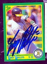Buy Tony Phillips, IF/OF, Athletics, Score Trading Card 84