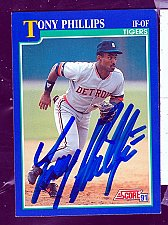 Buy Tony Phillips, IF/OF, Tigers, Score Trading Card 38