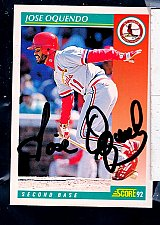 Buy Jose Oquendo, 2B, Cardinals, Score Trading Card 305