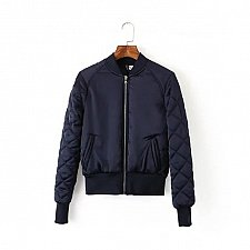 Buy women soft short jacket blue