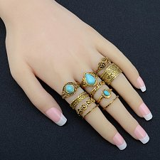 Buy 10pcs vintage rings