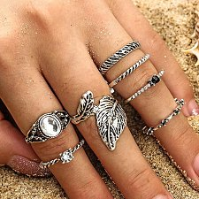 Buy 7pcs vintage rings