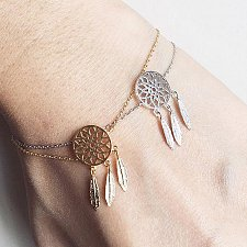 Buy fashion 2pcs gold and silver plated bracelet