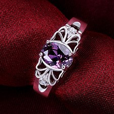 Buy women silver plated ring