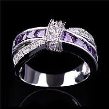 Buy women cross silver plated ring