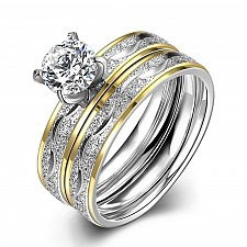 Buy women double fashion wedding rings