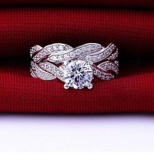 Buy women double wedding rings