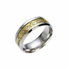 Buy men gold ring stainless steel