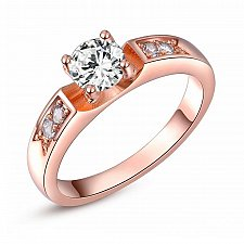 Buy women fashion 18K rose gold plated ring