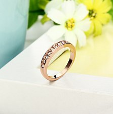 Buy women 18K rose gold plated ring