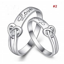 Buy fashion women men 2pcs wedding rings