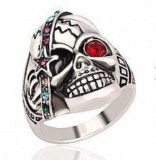 Buy men fashion SKULL ring size