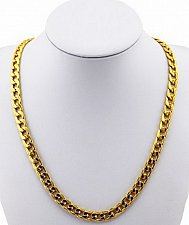 Buy 24inch men 18K gold plated necklace