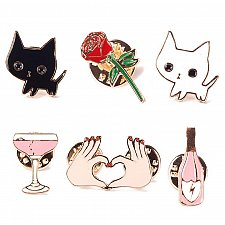 Buy 6pcs cute brooch jewelry KIDS PIN