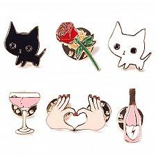Buy 6pcs cute brooch jewelry KIDS PIN