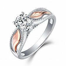 Buy women wedding diamond zircon ring with jewelry box